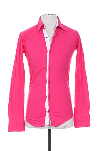 Chemise manches longues rose FREESIDE pour homme