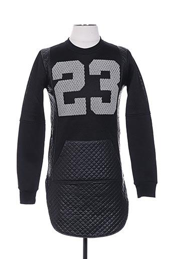 Sweat-shirt noir BERRY DENIM pour homme