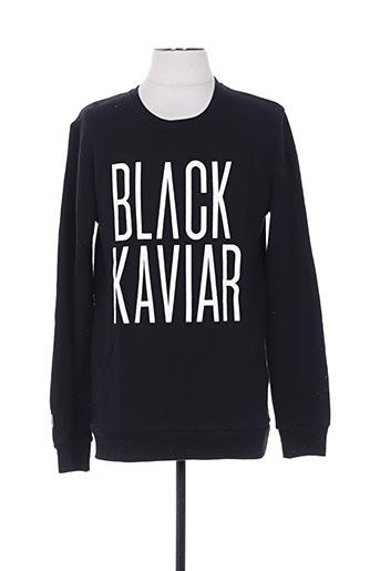 Sweat-shirt noir BLACK KAVIAR pour homme
