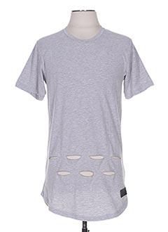 T-shirt manches courtes gris CELEBRYTEES pour homme