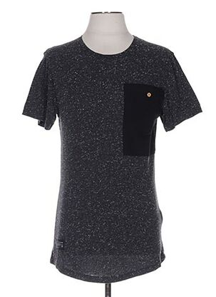 T-shirt manches courtes gris TWO ANGLE pour homme