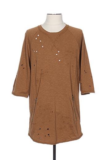 T-shirt manches longues marron BLACK KAVIAR pour homme