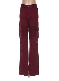 Pantalon casual rouge HITE COUTURE pour femme