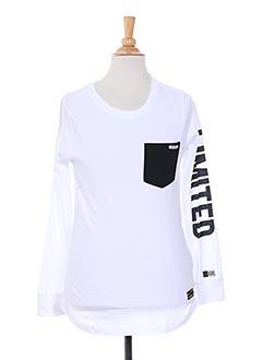 T-shirt manches longues blanc RETOUR pour garçon