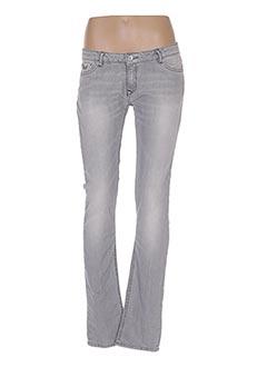 Jeans coupe slim gris KAPORAL pour fille
