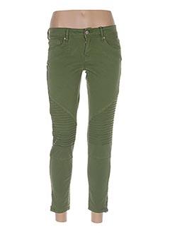 Pantalon 7/8 vert TIFFOSI pour femme