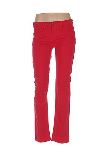 Pantalon casual rouge TIFFOSI pour fille