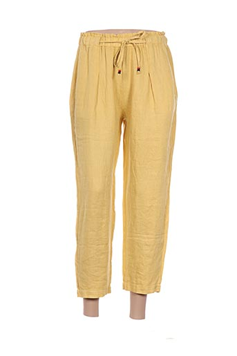 Pantalon 7/8 jaune DEHA pour femme