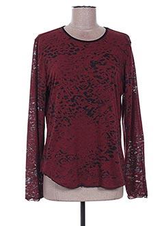 T-shirt manches longues rouge DESAIVRE pour femme