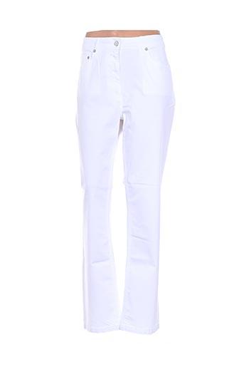 Pantalon casual blanc CLAUDE DE SAIVRE pour femme