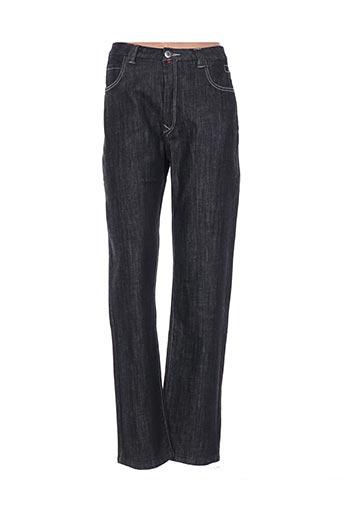Pantalon casual noir CLAUDE DE SAIVRE pour femme