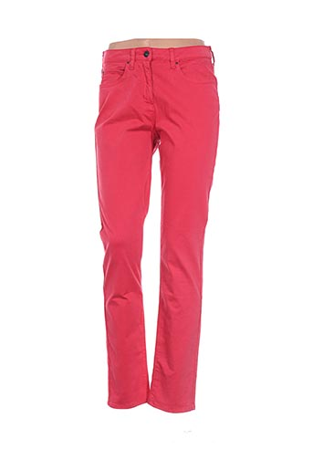 Pantalon casual orange CLAUDE DE SAIVRE pour femme