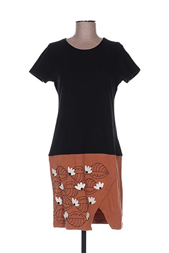 Robe courte noir COMOUNAREGADERA pour femme