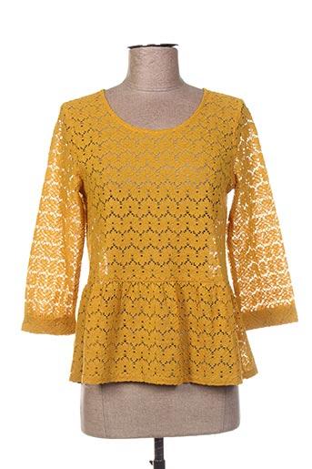 Tunique manches longues jaune CHARLIOR pour femme