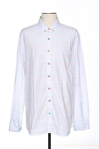 Chemise manches longues blanc COLOURS & SONS pour homme