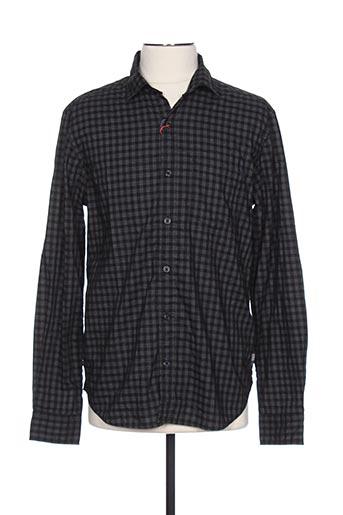 Chemise manches longues noir S.OLIVER pour homme
