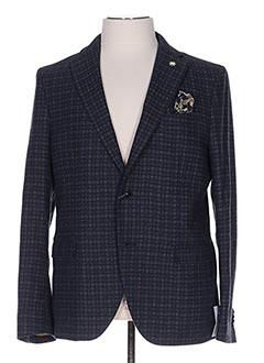 Veste casual bleu MANUEL RITZ pour homme