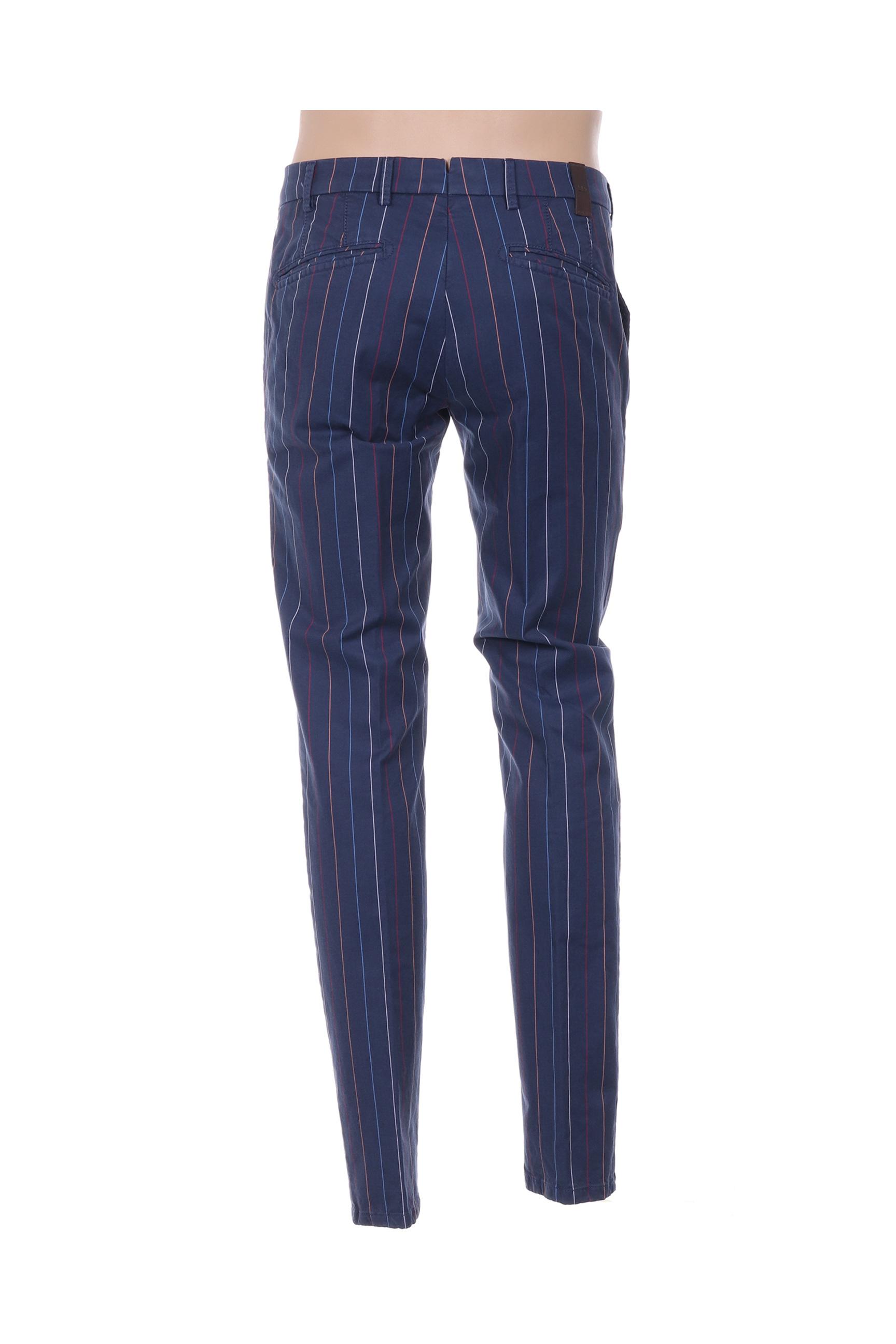 Mmx Pantalons Citadins Homme De Couleur Bleu En Soldes Pas Cher 1360615-bleu00