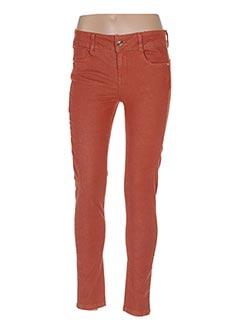 Pantalon casual orange LES P'TITES BOMBES pour femme