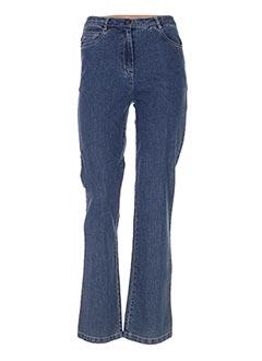 Jeans coupe droite bleu FREDA pour femme
