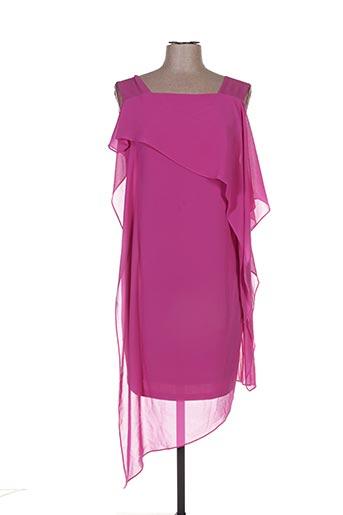 Robe mi-longue violet ÉCLÀ pour femme