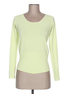 Pull col rond vert ANIMALE pour femme