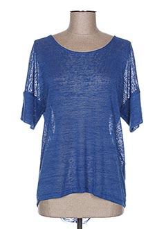 T-shirt manches courtes bleu COTTON BROTHERS pour femme