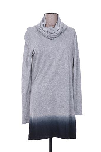 Robe courte gris ELEMENT pour femme