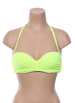 Haut de maillot de bain jaune BILLABONG pour femme