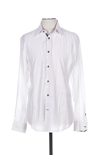 Chemise manches longues blanc STONES pour homme