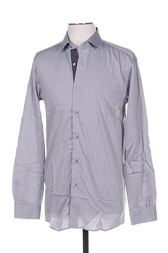 Chemise manches longues gris PIERRE CARDIN pour homme