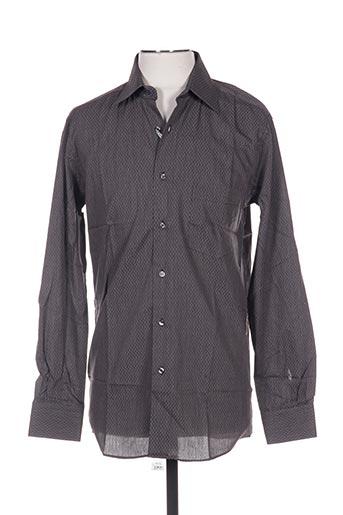 Chemise manches longues noir PIERRE CARDIN pour homme