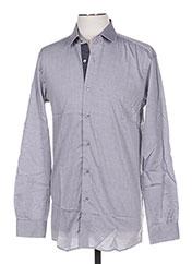 Chemise manches longues gris PIERRE CARDIN pour homme seconde vue