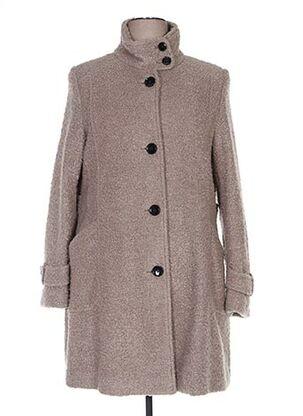 Manteau long beige COMMA, pour femme