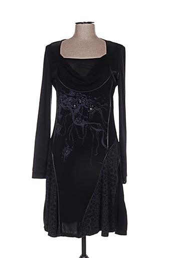 Robe mi-longue noir ANGELS NEVER DIE pour femme