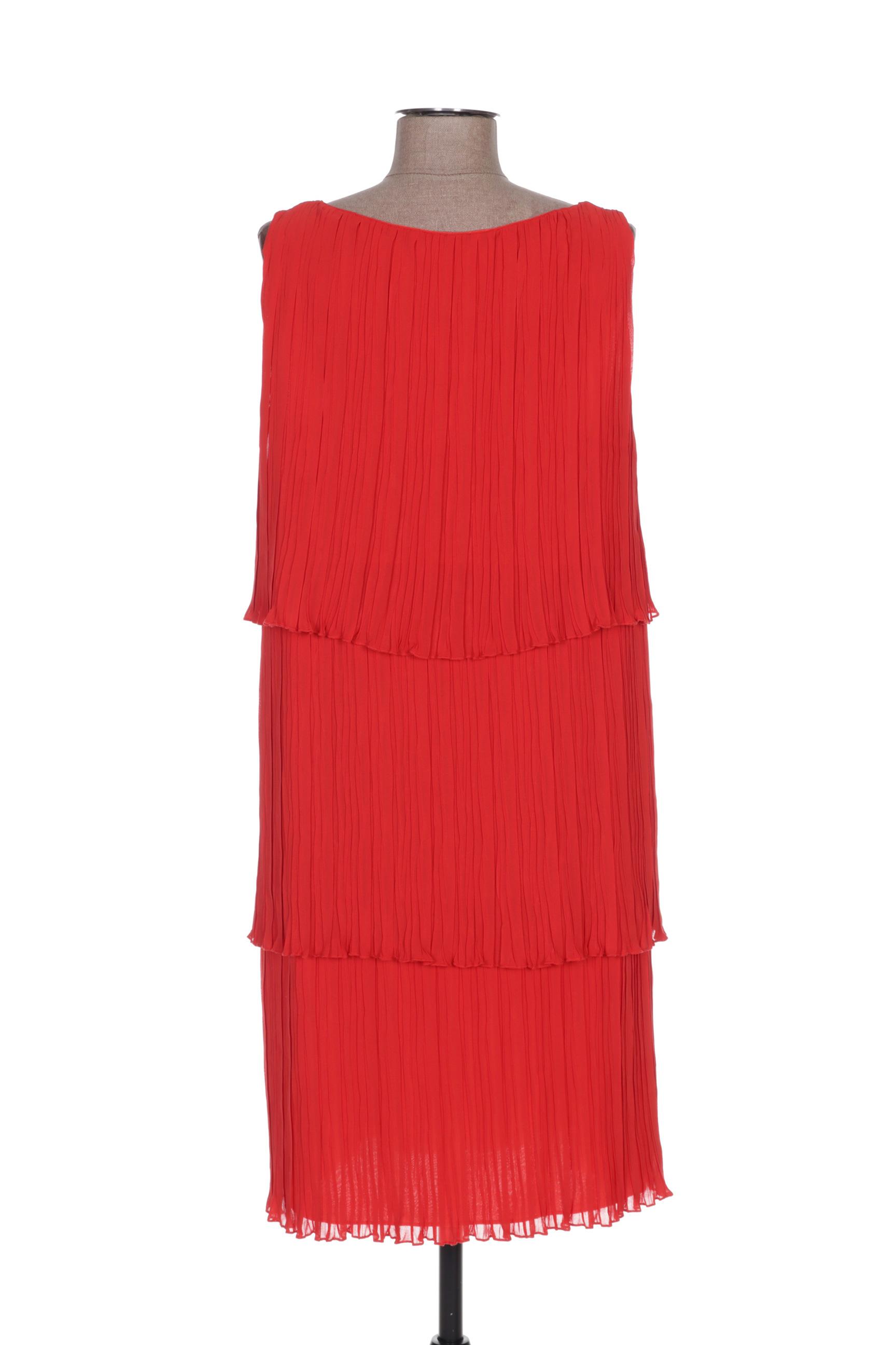 Eleonora Amadei Robes Mi Longues Femme De Couleur Rouge En Soldes Pas Cher 1351153-rouge0