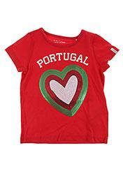 T-shirt manches courtes rouge ESPRIT pour fille seconde vue