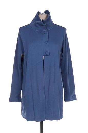Veste casual bleu MALOKA pour femme