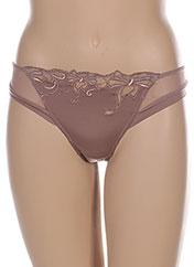 String/Tanga marron LISE CHARMEL pour femme seconde vue