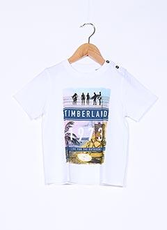 T-shirt manches courtes blanc TIMBERLAND pour garçon