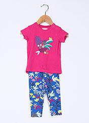 Top/pantalon rose CATIMINI pour fille seconde vue