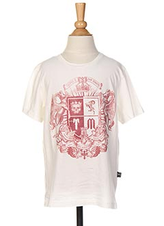 T-shirt manches courtes blanc THE MINORITY pour garçon