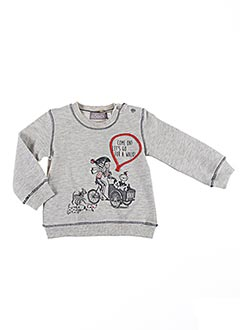 Sweat-shirt gris BOBOLI pour fille