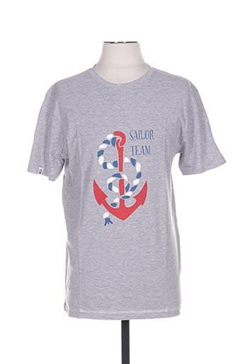 T-shirt manches courtes gris UNICO pour homme