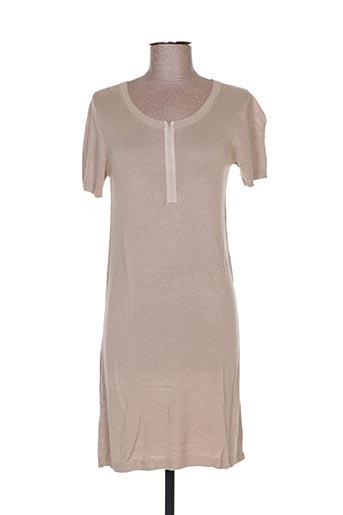 Robe pull beige ESTHEME pour femme