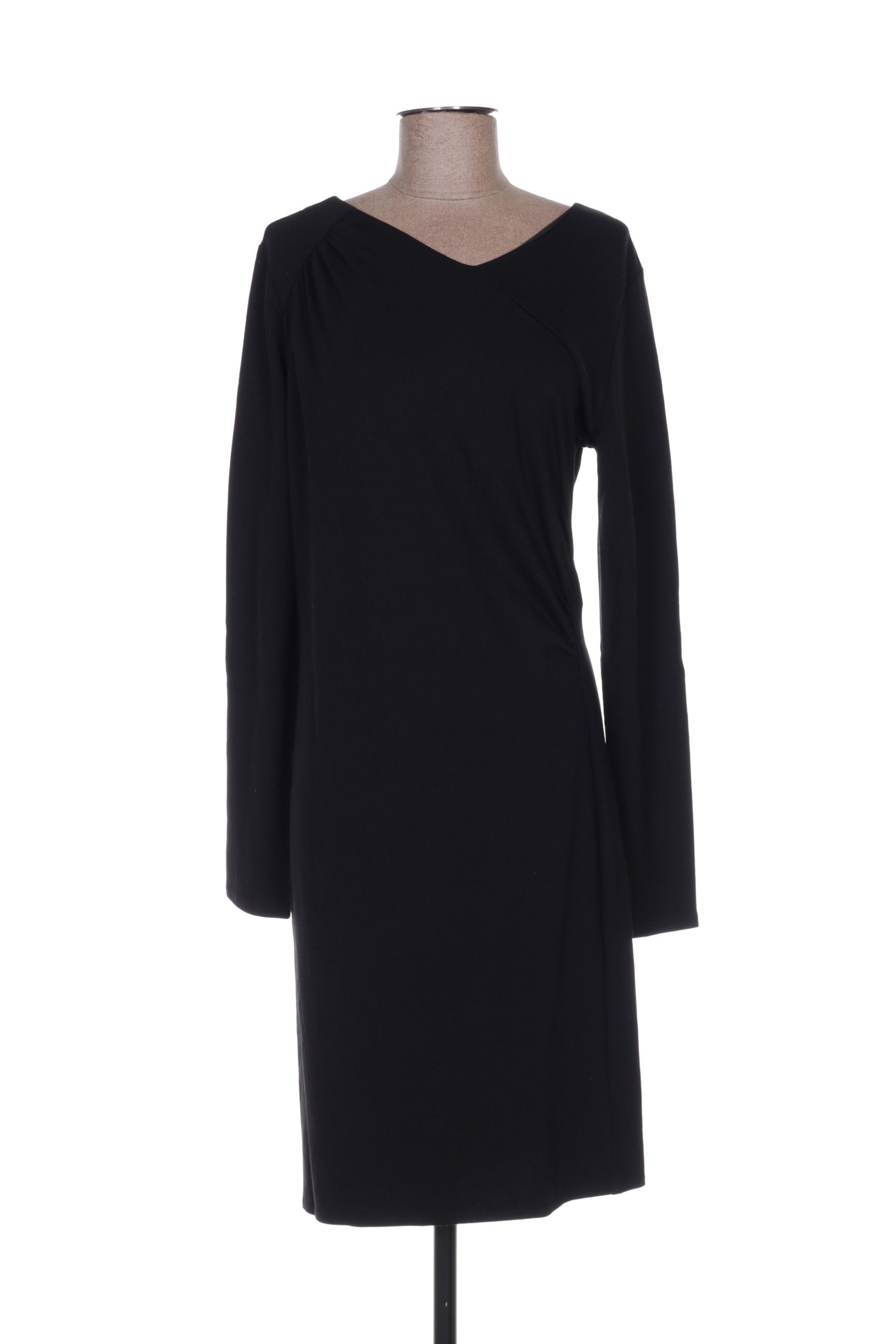 Robe mi-longue femme Hugo Boss noir taille : 40 FR (FR)