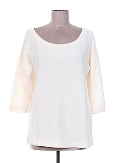 Pull col rond beige DESIRES pour femme