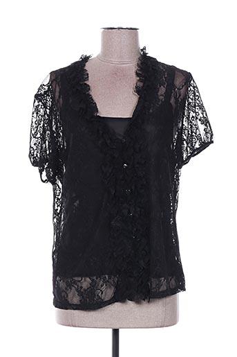 T-shirt manches courtes noir FOSBY pour femme