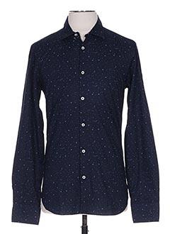 Chemise manches longues bleu MANUEL RITZ pour homme