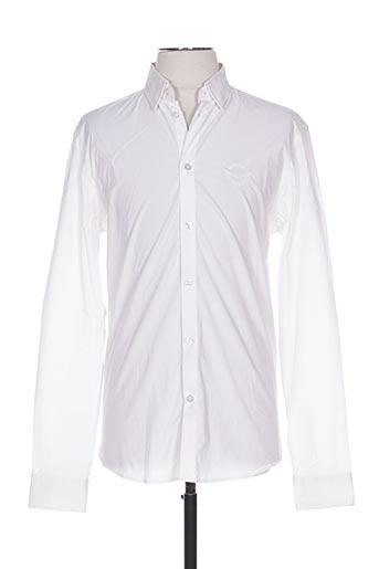 Chemise manches longues blanc FRANKIE MORELLO pour homme
